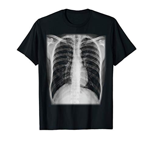 Skeleton Chest X-Ray Easy Costume T-Shirt ()