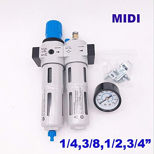 Pneumatic FRC air filter regulator lubricator Manual drain 1/4 3/8 1/2 3/4 inch MIDI type air source treatment unit