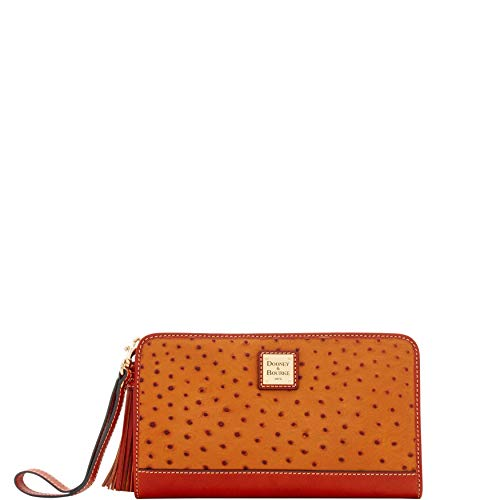 Bourke Ostrich - Dooney & Bourke Ostrich Alice Wristlet Clutch Wallet