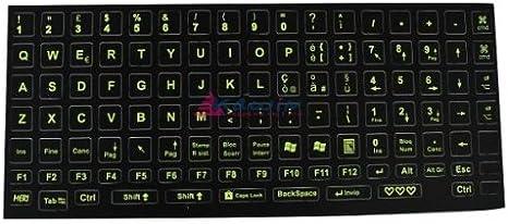 Pegatinas para teclado fluorescentes - Amarillas: Amazon.es: Deportes y aire libre