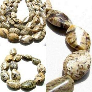 Wild Cat Feldspar Carved Oval Twist Pendant Bead Strand 108899 Spacer Beads and Roll Crystal String for Bracelets Jewelry - Carved Bead Oval Pendant