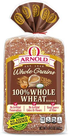 ARNOLD 100% WHOLE WHEAT BREAD WIDE PAN LOAF 24 OZ Arnold Whole Grain Bread