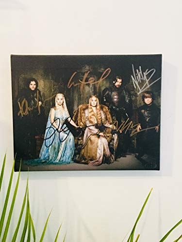 - Game of Thrones Cast Autographed RP 11x14 Canvas Print Wall Art