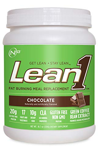 Lean1 Fat Burning Meal Replacement, Chocolate, 18.3 oz (520g) (Best Fat Burning Protein Shake)