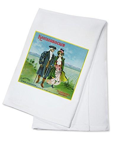 Claremont 24 Towel Bar - Claremont, California - Knickerbocker Brand Citrus Label (100% Cotton Kitchen Towel)
