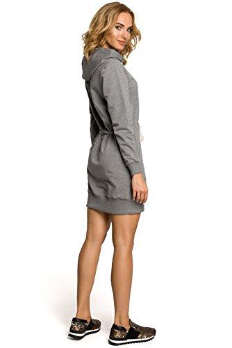 Schnürchen MOE Grau und Kleid mit Sportkleid Kapuze xaTpH