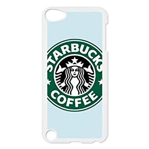 CTSLR Custom Starbucks Logo Protective Hard Case Cover Skin for iPod Touch 5 5G 5th Generation- 1 Pack - Black/White -2 by runtopwell