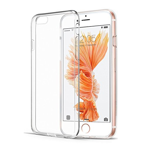 iPhone 6s Case, tekSonic Apple iPhone 6/6s Case [SOFT-FLEX] Shock-Absorption Bumper [Crystal Clear] and Anti-Scratch Clear Back Cover Case for iPhone 6s iPhone 6 4.7 Inch (Transparent) - Transparent Clear Phone Cover