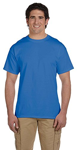 Fruit of the Loom 5 oz, 100% Heavy Cotton HD T-Shirt, Large, Retro HTH Royal
