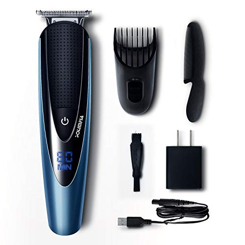 Solimpia Mens Beard Trimmer Cordless Body Hair Trimmer Mustache Trimmer for Men Grooming Kit Warterproof USB Rechargeable -