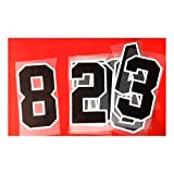 Two Colors Jersey Numbers Kit(0-9),8' Tall for Sport Iron on Numbers,Jersey Football Baseball,Iron On, Heat Transfer Number,Team,t-Shirt(Style A)(Black_in,White_Out)