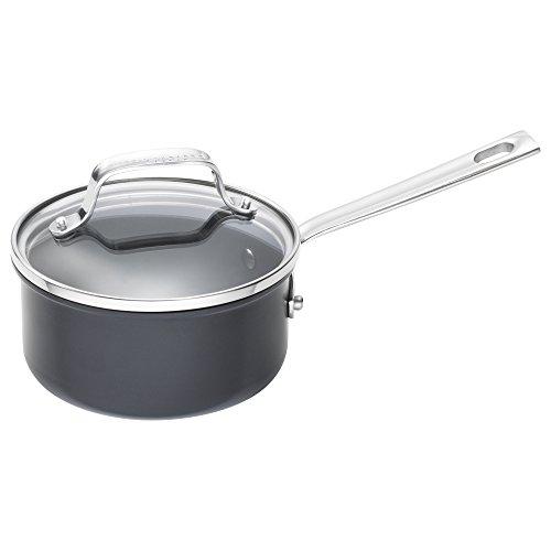 Emeril Lagasse 62926 Dishwasher safe Nonstick Hard Anodized Saucepan, 1-Quart ,Gray ()