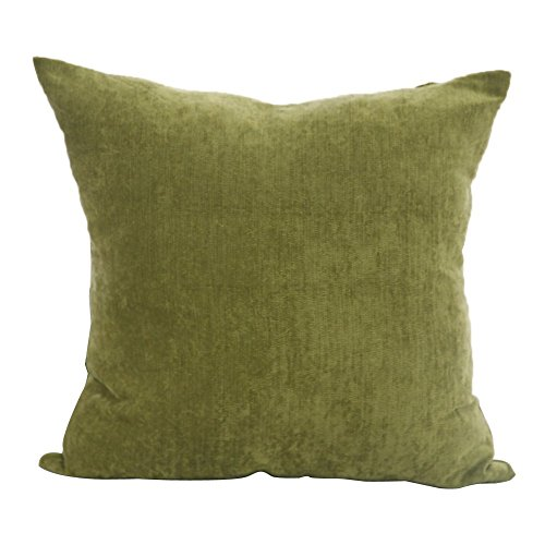 Deconovo Corduroy Home Decorative Hand Made Pillow Case Cushion Cover For Sectional, 18×18-inch, Olive