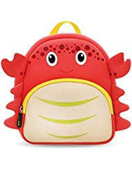 Coavas Toddler Backpack Cute Crab Kids Preschool Cartoon Pack for 1-5 Y Children