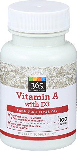 365 Everyday Value, Vitamin A & D 10/400 IU, 100 ct