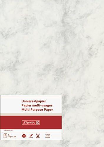 BRUNNEN 105141111 Universalpapier / Multifunktionspapier Marmor (A4, 120 g/m², 35 Blatt, marmoriert) chamois