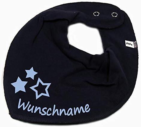 Elefantasie Halstuch Herz Sterne mit Namen oder Text personalisiert Khaki f/ür Baby oder Kind