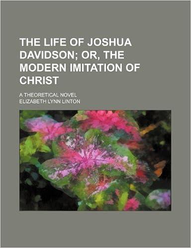 Book The life of Joshua Davidson: or, The modern imitation of Christ. A theoretical novel