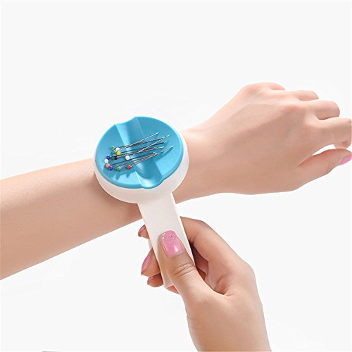YEQIN NEW Magnetic Wrist Pin Holder 'Wrist Pinny' Slap Band 5 Vibrant Colours available (blue)