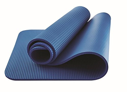 Athletic Works Fitness Mat 10 mm Extra Thick Yoga Exercise Mat with Carry Strap