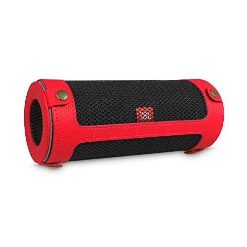 Water Resistant Silicone Bluetooth Speaker (Red) - 5
