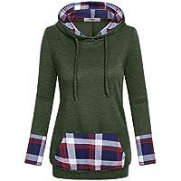 Cestyle Women's Long Sleeve Color Block Casual Pullover Hoodie Sweatshirt