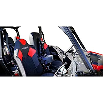 Mounting Hardware Included Bump Seat with 2 Orange 4 Point Safety Harness Fits Polaris RZR Models 5048A5 CB 6008-A3