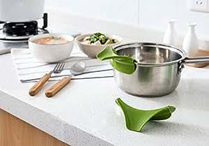 Anti Leakage Kitchen Pot Round Deflector Edge Creative Kitchen Tools Liquid Silicone Funnel