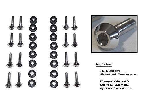ZSPEC Intake Valve Covers Polished Fasteners for Nissan Z32 300zx, 90-96 Intake Kit (No Exhaust) - No Crush Washers