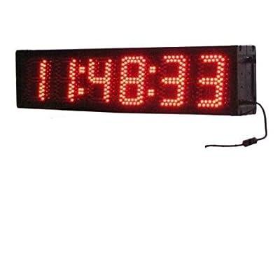 godrelish 12,7cm semi-outdoor Double face 6chiffres course de course Horloge Horloge Événements de télécommande infrarouge