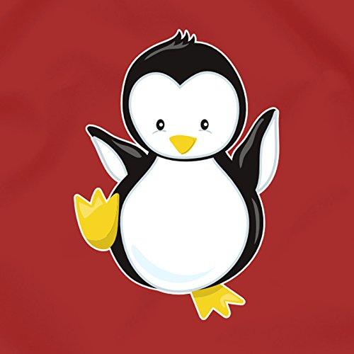 plot4u Turnbeutel Lustiger Pinguin Sportbeutel für Schule Sport Sporttasche Bag Base® BG10 Gymsac 45x34cm saphir blau/farbiger Aufdruck Rot/Farbiger Aufdruck 4eY3GP1y