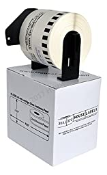 4 Rolls; BROTHER-Compatible DK-2205 Continuous Paper Labels With PERMANENT black cartridges (2-4/9\