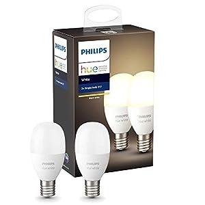 Philips Hue (ヒュー) ホワイトシングルランプE17(電球色)2個セット
