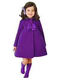 60af150f1 Ameny® Children Girls Fall Winter Lolita Bowknot Wool Outwear Dress Coat