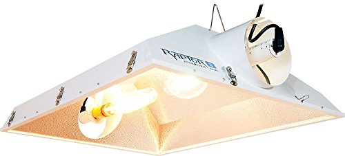 Hydrofarm Hps Grow Light - Raptor Reflector Flange AC Unit with Dual Sockets - MH or HPS - Mogul Socket with Cord - Operates up to Two 1000W Bulbs - Tempered Safety Glass - Hydro Farm RP8ACD