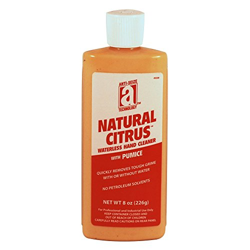 anti-seize-technology-49208-natural-citrus-waterless-hand-cleaner-with-pumice-8-oz-squeeze-tube-ligh