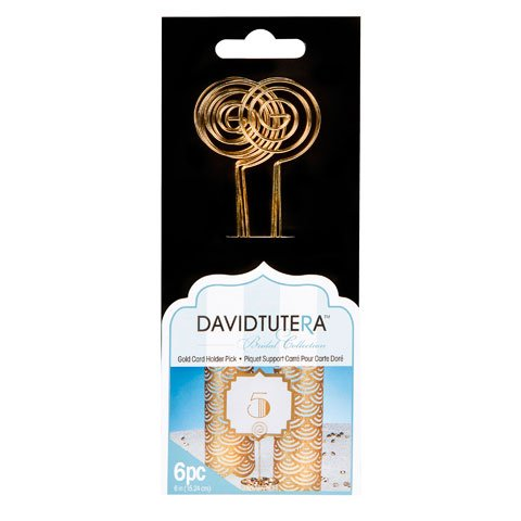 Circle Card Holder Picks in Gold6 per Pack6