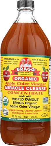 Apple Vinegar With Mother Cider Bragg (Bragg Organic Apple Cider Vinegar, Miracle Cleanse Concentrate, 32 Ounce)