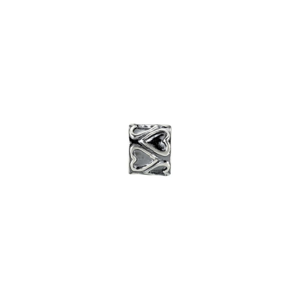 Sterling Silver 9.4x8.15mm Bead Hearts