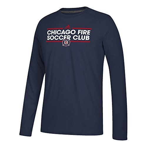 fan products of MLS Chicago Fire Men's Ultimate Long-Sleeved Dassler Tee, X-Large, Collegiate Navy