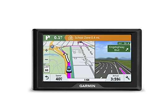 Garmin Drive 61 USA LM GPS Navigator System with Lifetime Maps, Spoken Turn-By-Turn Directions, Direct Access, Driver Alerts, TripAdvisor and Foursquare Data