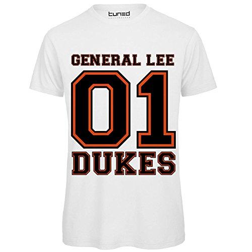 Chemagliette Anni Divertente Dukes Lee Telefilm Maglietta Con Stampa shirt General Uomo Hazzard Tuned T Bianco 80 rfBRSr