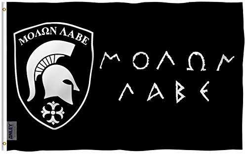 Anley Fly Breeze 3x5 Foot MOLON LABE Flag - Vivid Color and