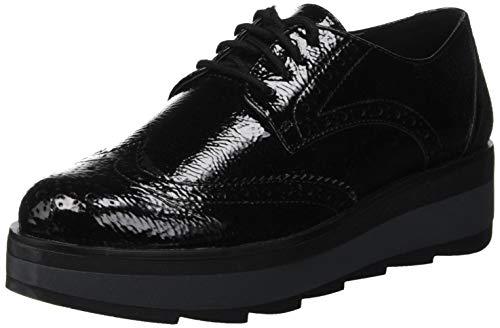 Para Cb001 Evelyn Nero Lumberjack black Cordones Zapatos Brogue Mujer De 0zqq7wxX