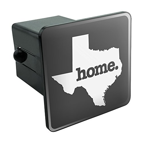 (Texas TX Home State Solid Dark Gray Grey Officially Licensed Tow Trailer Hitch Cover Plug Insert)