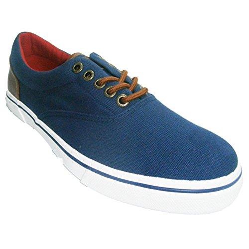 Chaussures de sport en toile à lacets en cuir talon Gioseppo en bleu marine