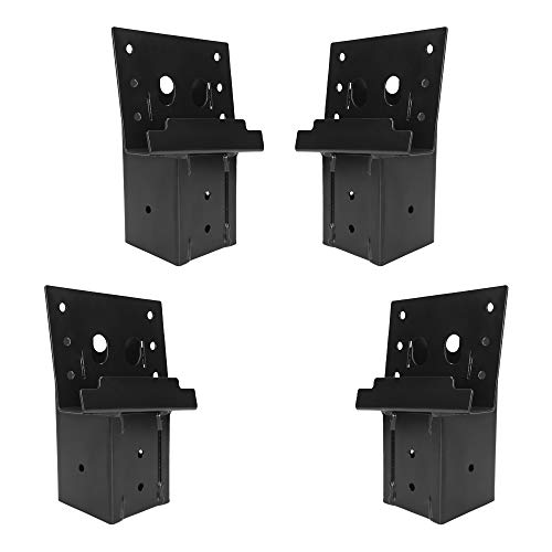 Mofeez Outdoor 4x4 Compound Angle Elevator Brackets for Deer Stand Hunting Blinds Shooting Shack (Set of ()