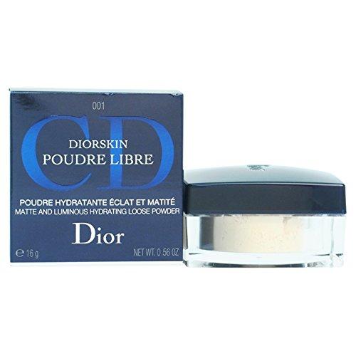 Christian Dior Matte and Luminous Hydrating Loose Powder 001 Transparent Light, 0.56 Ounce