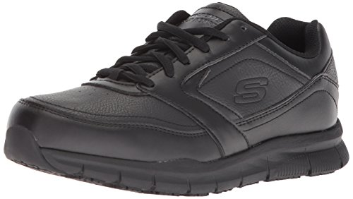 Skechers for Work Women's Nampa-Wyola Food Service Shoe, black polyurethane, 9.5 M US by Skechers