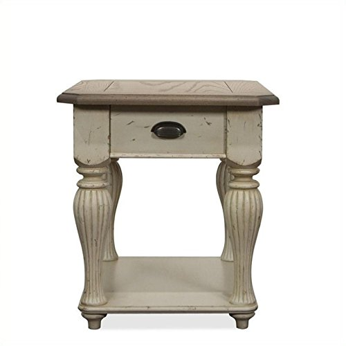 Riverside Furniture Coventry Two Tone 28 in. Rectangular End Table